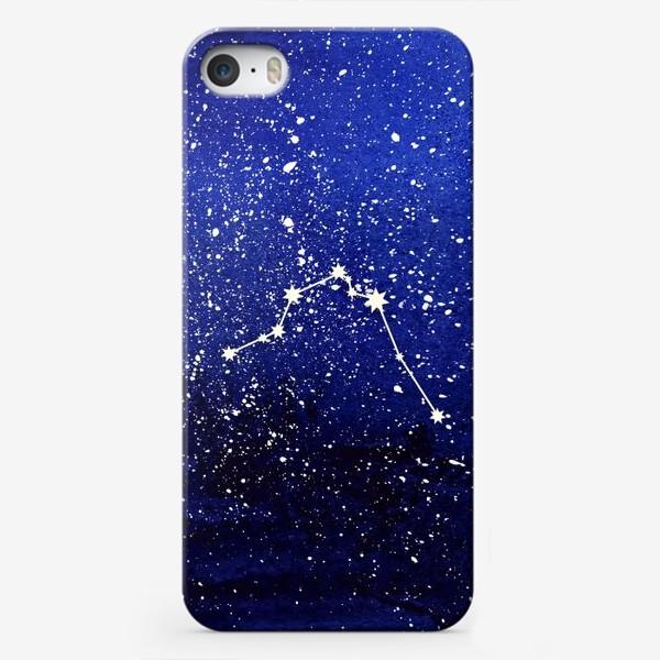 Чехол iPhone «Созвездие Водолей. Акварель»