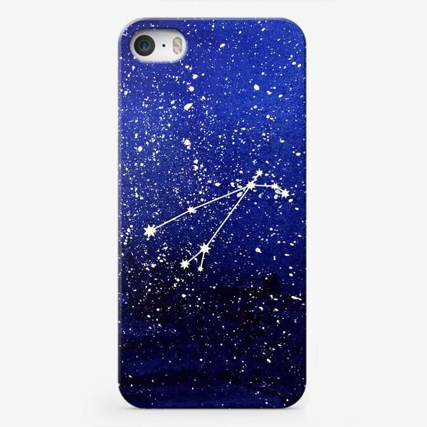 Чехол iPhone «Созвездие Овен. Акварель»