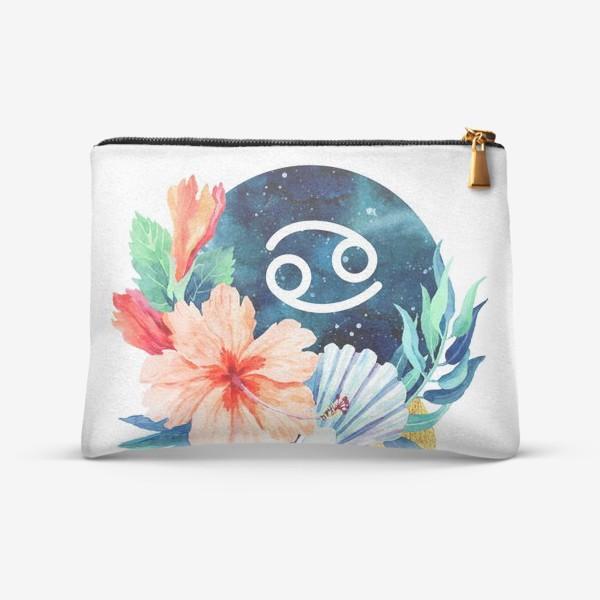 Косметичка «Подарок для РАКА Тропические цветы»
