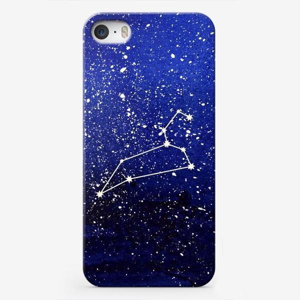 Чехол iPhone «Созвездие Лев. Акварель»