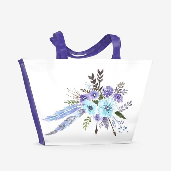 Пляжная сумка «Indi flowers»
