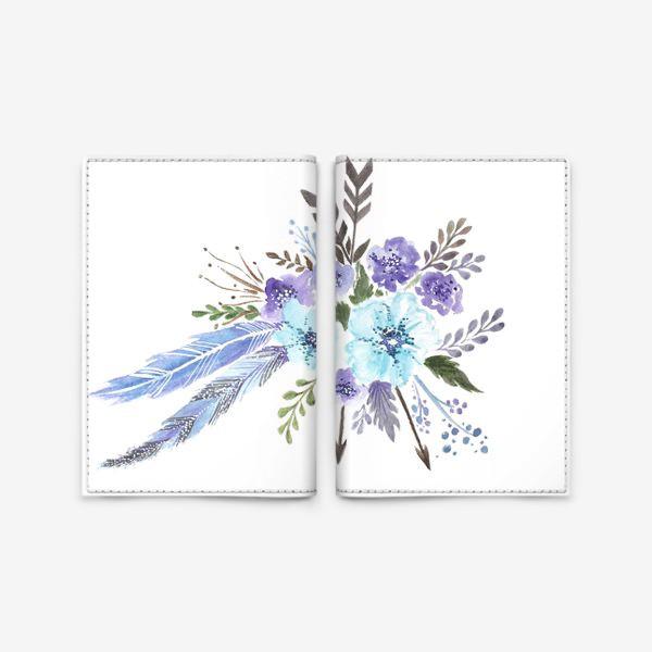 Обложка для паспорта «Indi flowers»