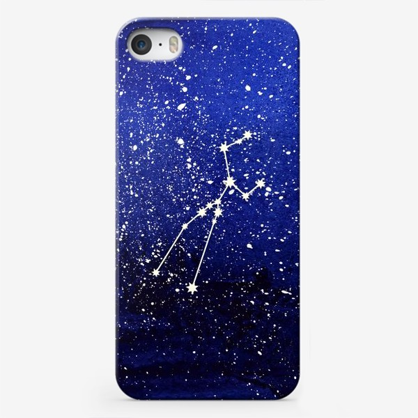 Чехол iPhone «Созвездие Телец. Акварель»