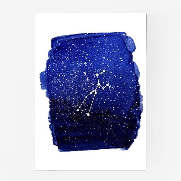 Постер «Созвездие Телец. Акварель»