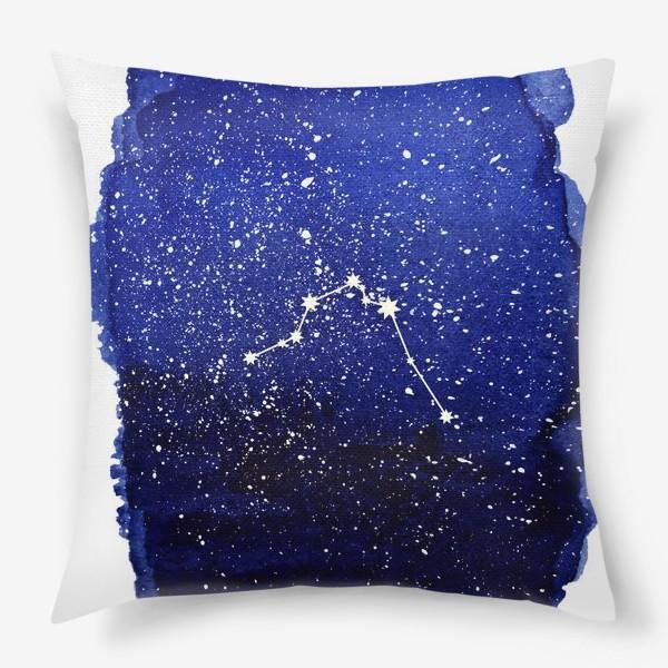 Подушка «Созвездие Водолей. Акварель»