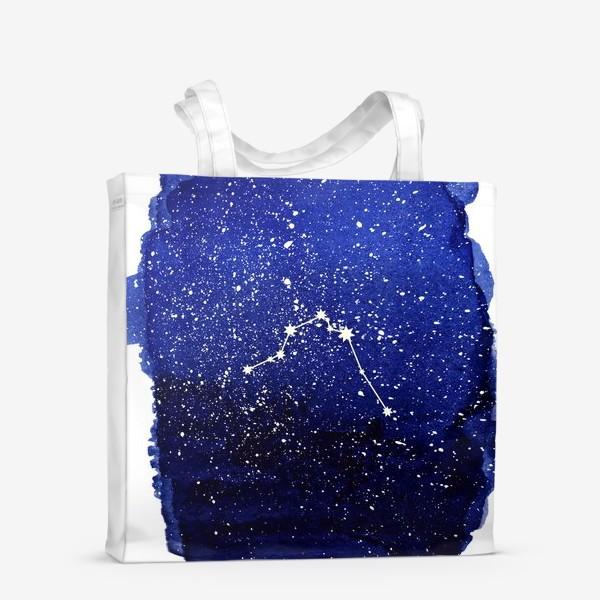 Сумка-шоппер «Созвездие Водолей. Акварель»
