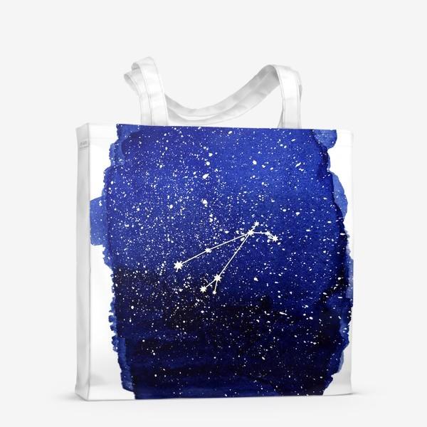 Сумка-шоппер «Созвездие Овен. Акварель»