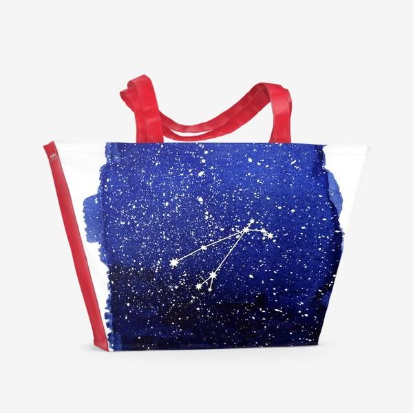 Пляжная сумка «Созвездие Овен. Акварель»