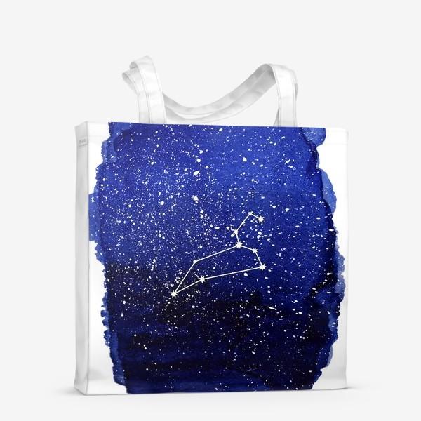 Сумка-шоппер «Созвездие Лев. Акварель»