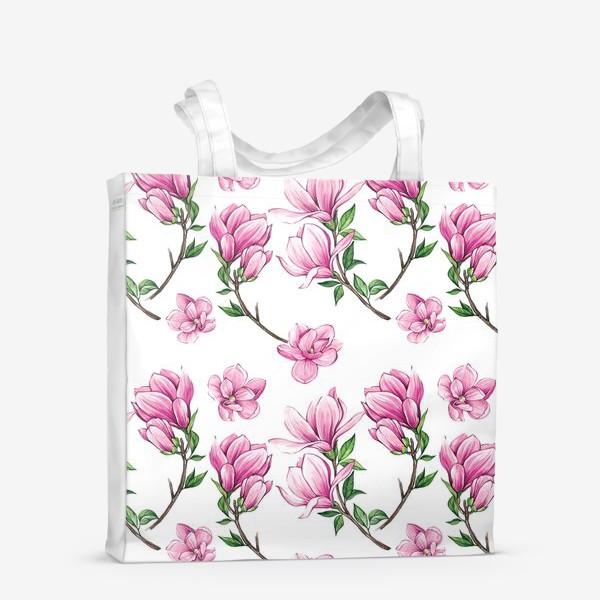 Сумка-шоппер «Цветущие магнолии»