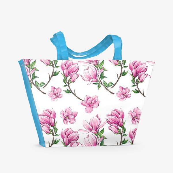 Пляжная сумка «Цветущие магнолии»