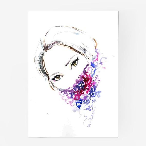 Постер «Девушка в шарфе»