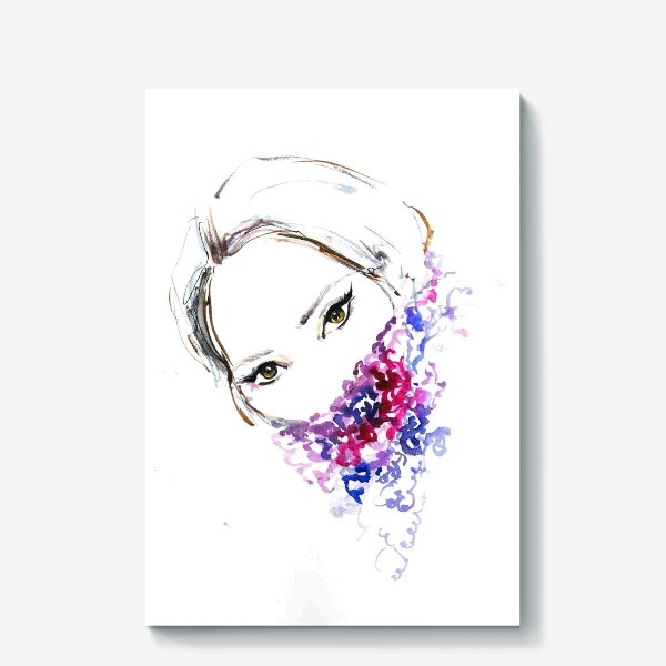 Холст «Девушка в шарфе»