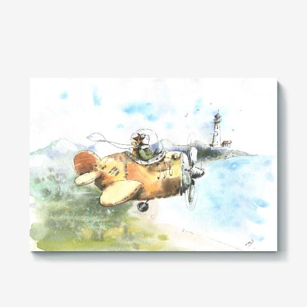 Холст «Кот летчик»