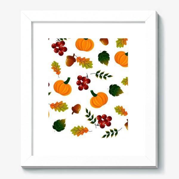Картина «Осенний паттерн с тыквой»