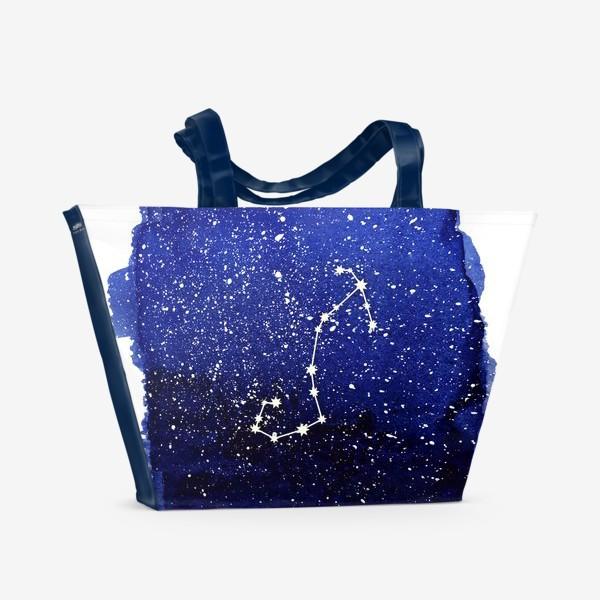 Пляжная сумка «Созвездие Скорпион. Акварель»
