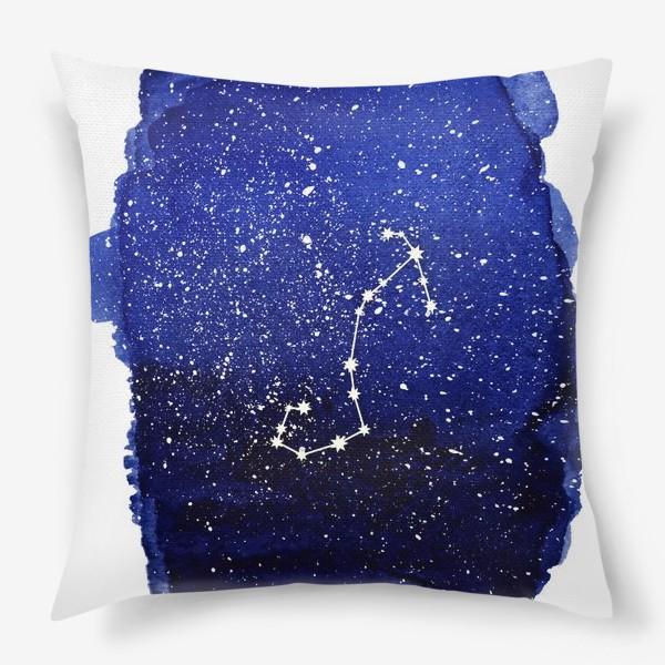 Подушка «Созвездие Скорпион. Акварель»