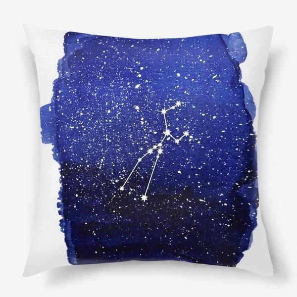 Подушка «Созвездие Телец. Акварель»