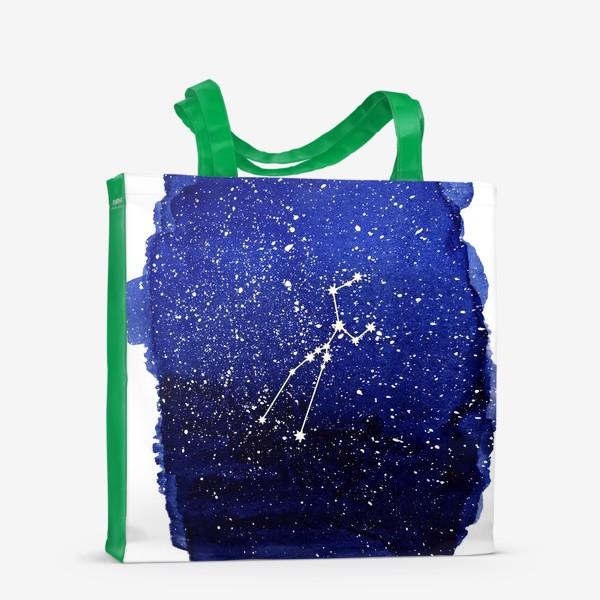 Сумка-шоппер «Созвездие Телец. Акварель»
