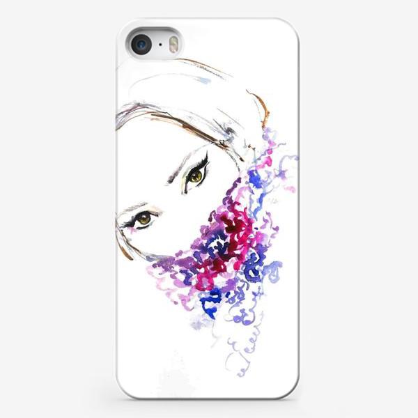 Чехол iPhone «Девушка в шарфе»
