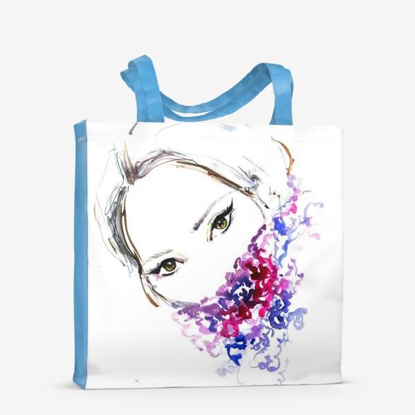 Сумка-шоппер «Девушка в шарфе»
