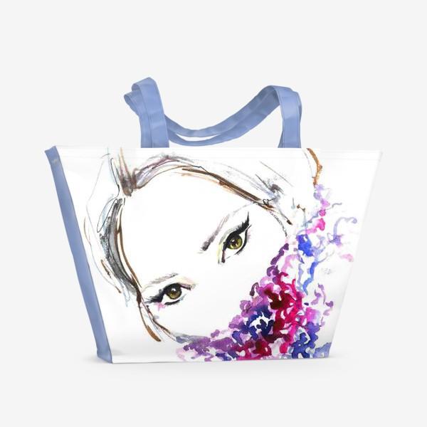 Пляжная сумка «Девушка в шарфе»