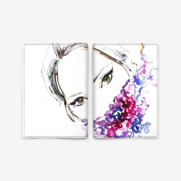 Обложка для паспорта «Девушка в шарфе»