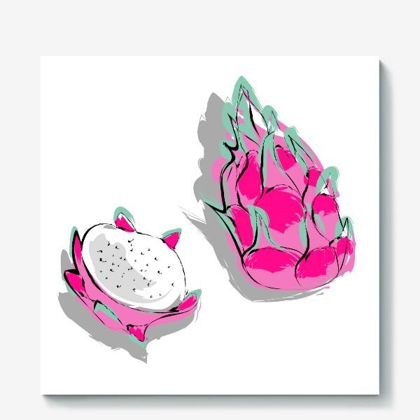 Холст «Питая или драконий фрукт. Яркий тропический фрукт»