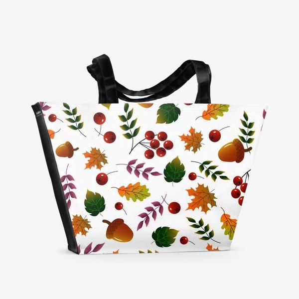 Пляжная сумка «Осенний лес»