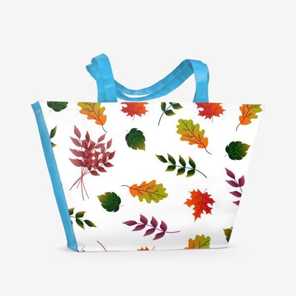 Пляжная сумка «Осенние листья.»