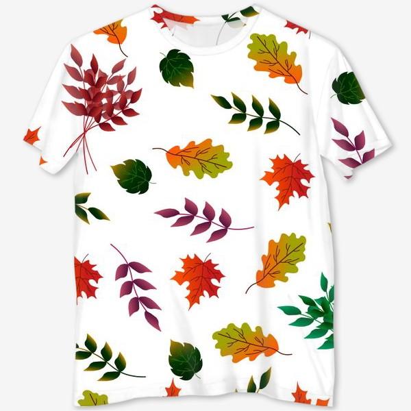 Футболка с полной запечаткой «Осенние листья.»
