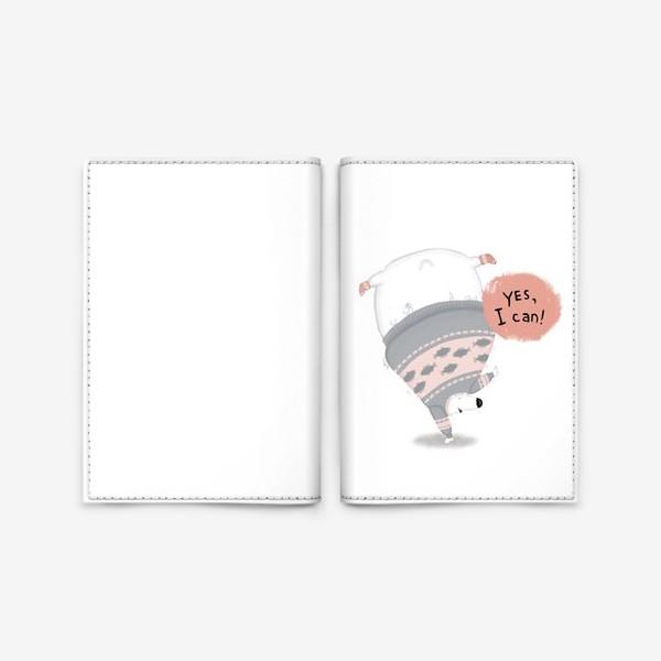 Обложка для паспорта «мишка-чемпион»