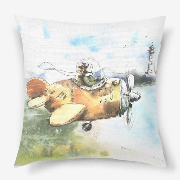 Подушка «Кот летчик»
