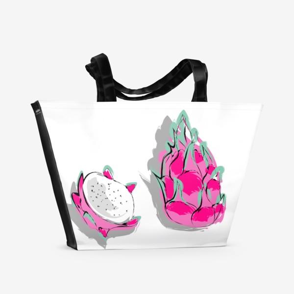 Пляжная сумка «Питая или драконий фрукт. Яркий тропический фрукт»