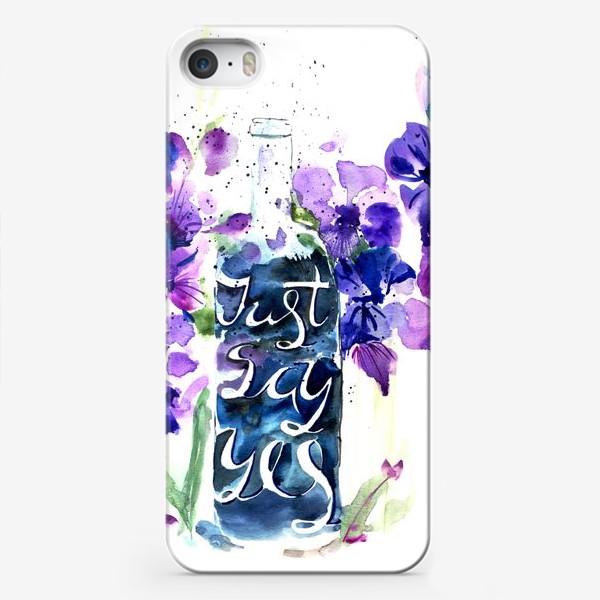 Чехол iPhone «Цветы гладиолусы, буквы»