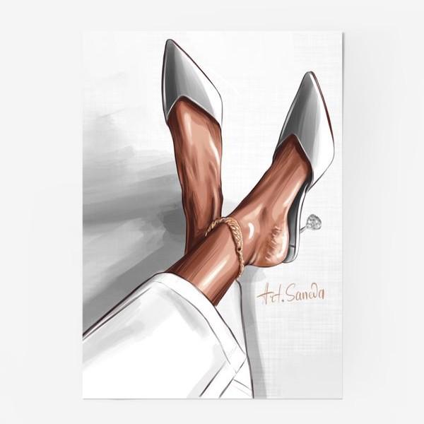 Постер «Лодочки серый»