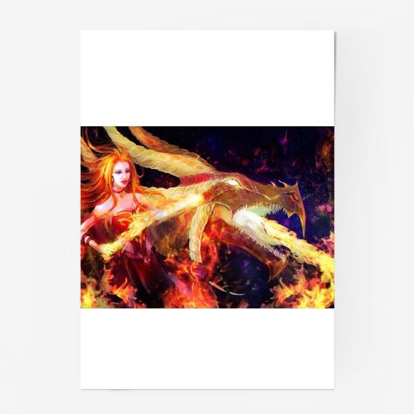 Постер «Лина - огненная девушка»