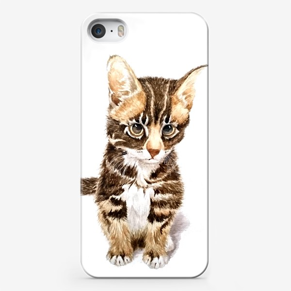 Чехол iPhone «Милый котенок сидит»
