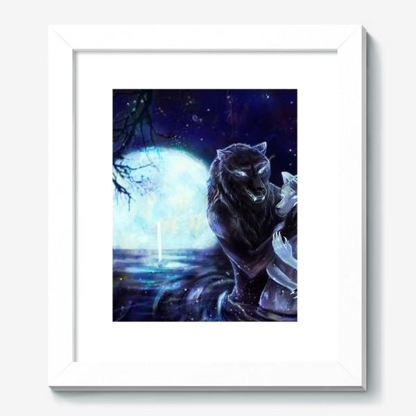 Картина «Влюбленные волки»