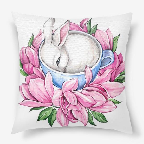 Подушка «Кролик в чашке»