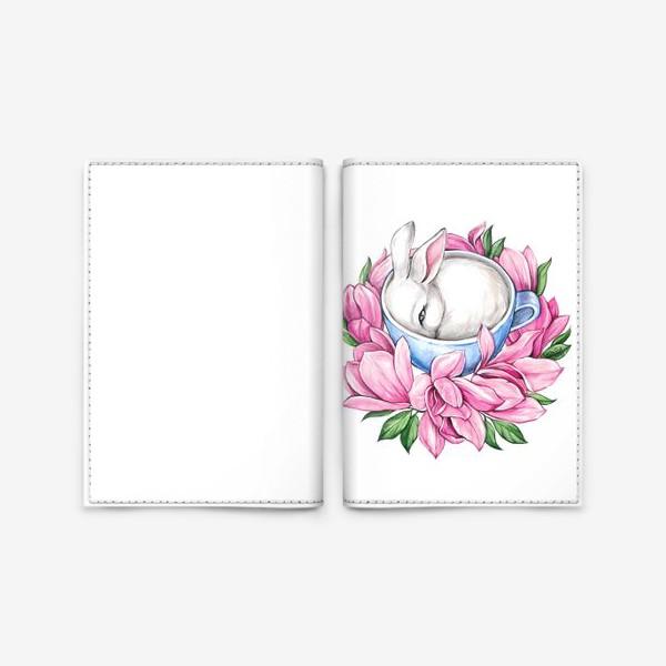 Обложка для паспорта «Кролик в чашке»