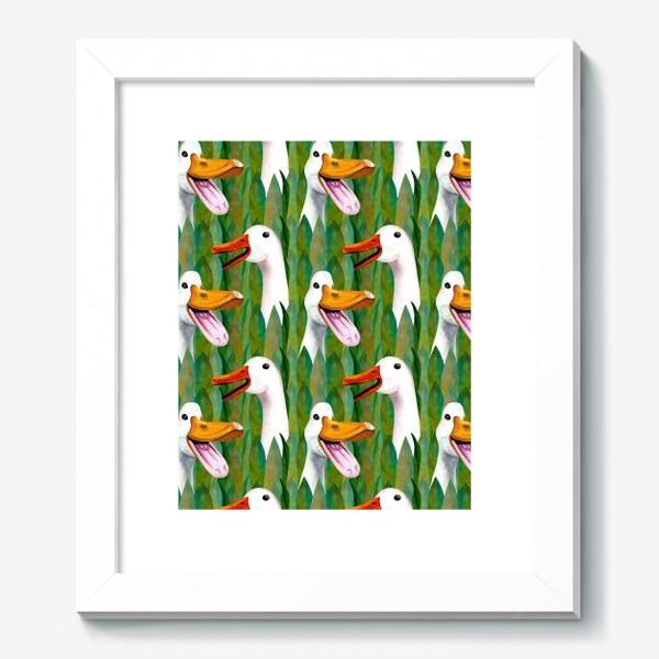 Картина «Паттерн кричащие гуси в траве»