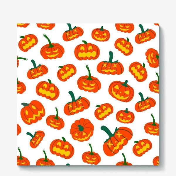 Холст «Тыквы. Осень. Хэллоуин. День Благодарения»