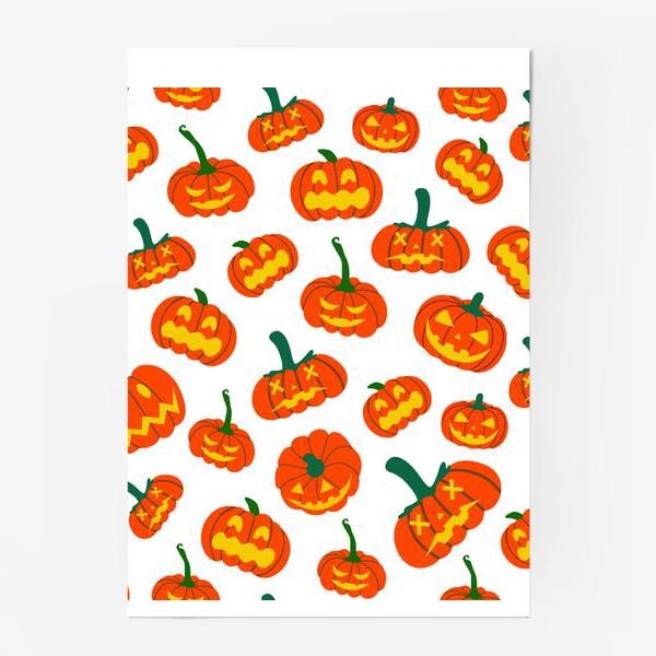 Постер «Тыквы. Осень. Хэллоуин. День Благодарения»