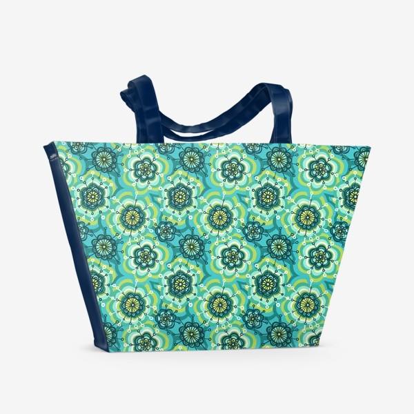 Пляжная сумка «Забавные цветы»
