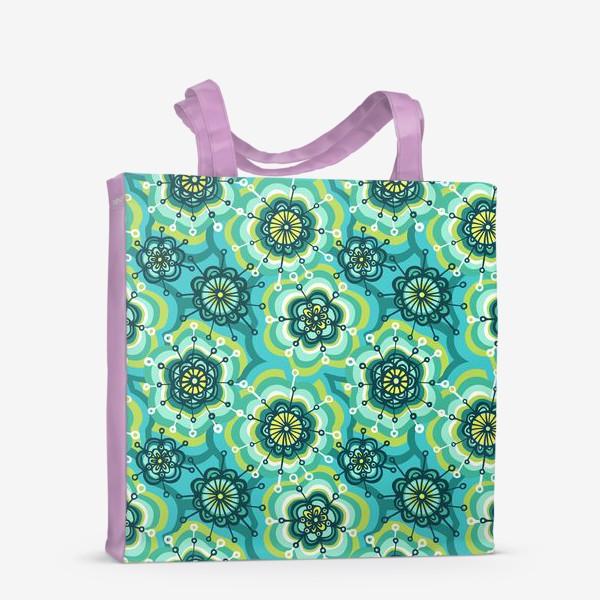 Сумка-шоппер «Забавные цветы»