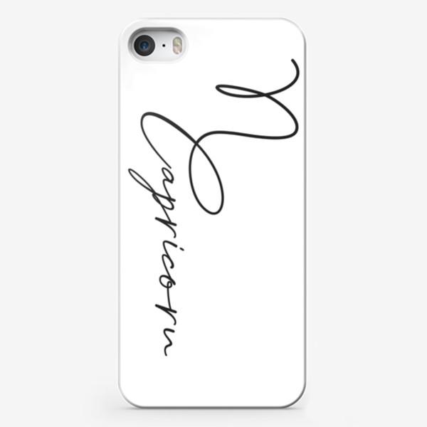Чехол iPhone «Козерог. Каллиграфия»
