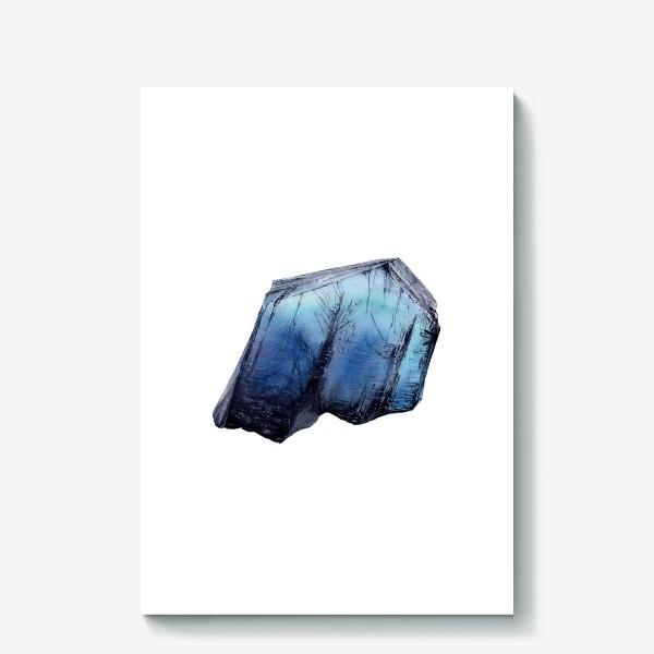Холст «Акварель кристалл танзанит»