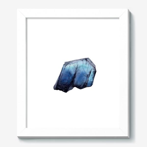 Картина «Акварель кристалл танзанит»
