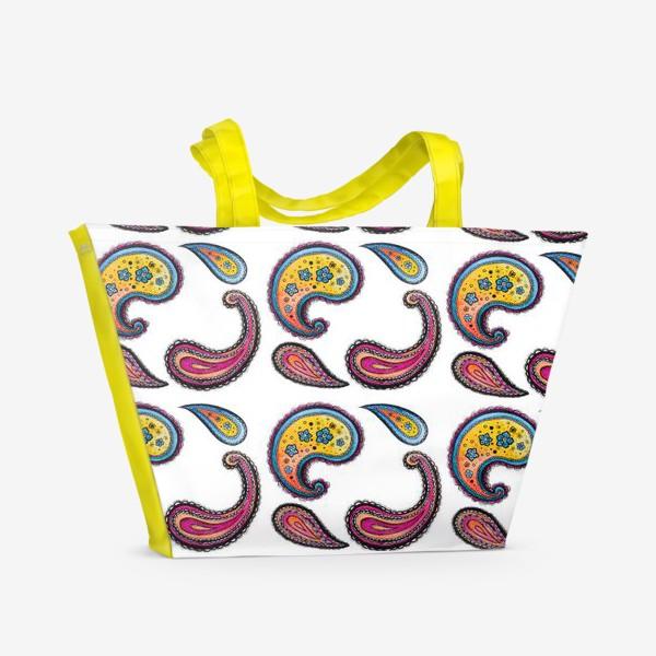 Пляжная сумка «Узоры»